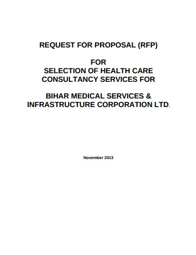 health care consultancy services proposal
