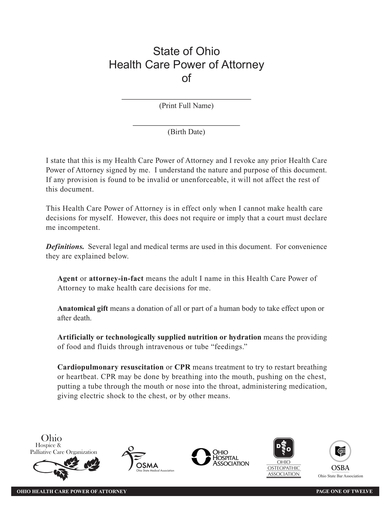 health care power of attorney agreement