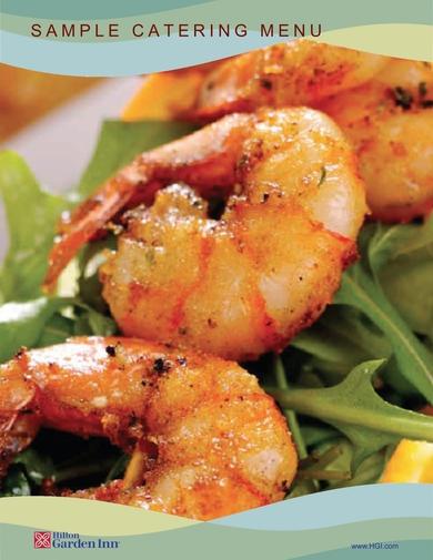 hilton garden inns catering menu