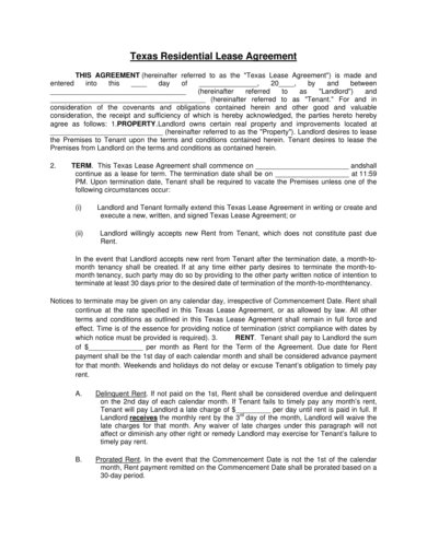 house residential rental lease agreement