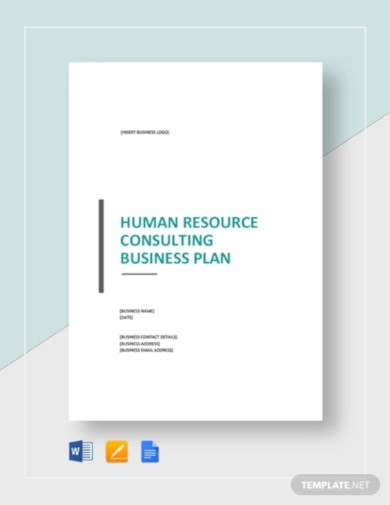 human resources consulting business plan template