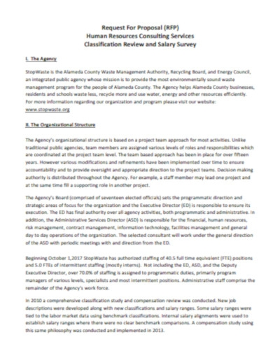 human resources consulting proposal template