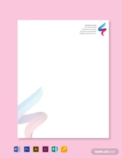 it company letterhead template