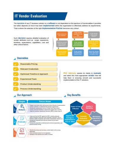 it vendor evaluation examples