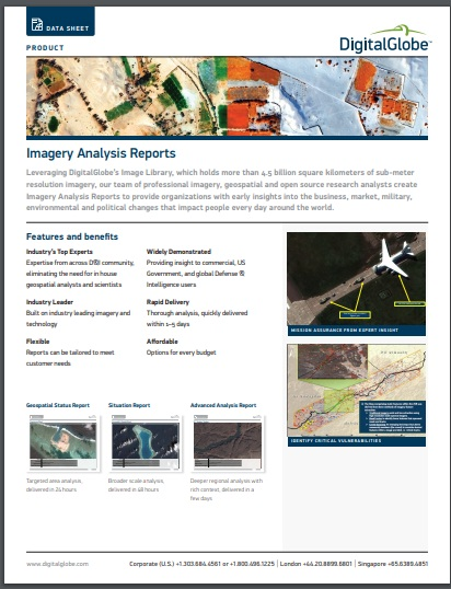 imagery production analysis report