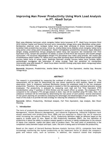 improving productivity through workload analysis1