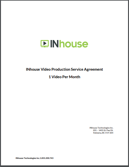 in house video production service agreement
