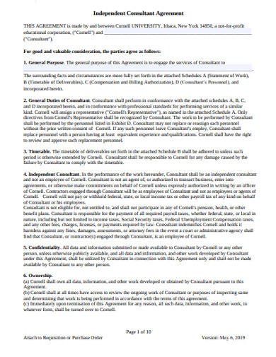 independent consultant agreement template