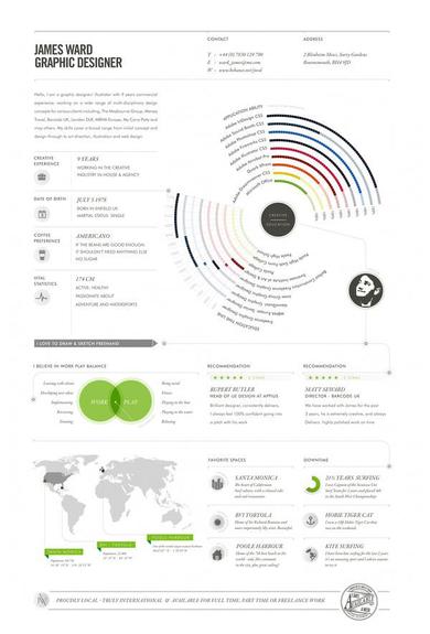 innovative infographic resume