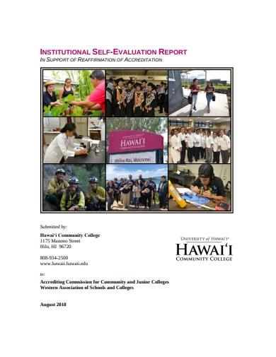 institutional self evaluation report