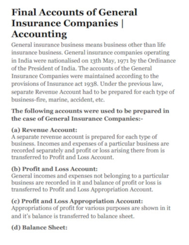 insurance companies balance sheets in pdf