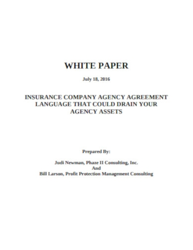 insurance company agreement