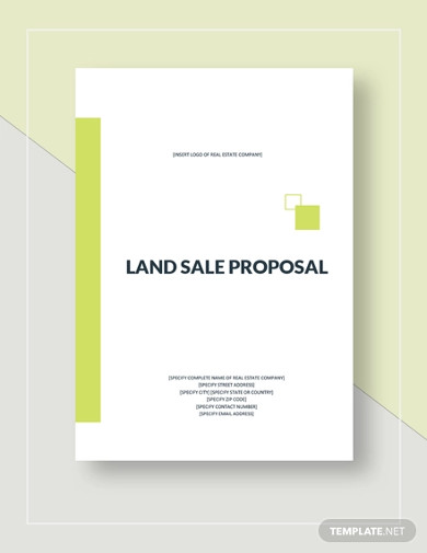 land sale proposal template