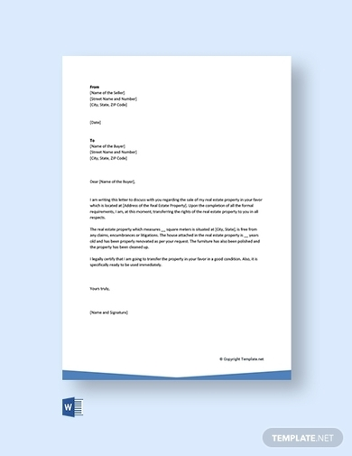 letter of transfer of ownership of property