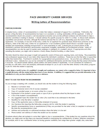 letter of recommendation for university