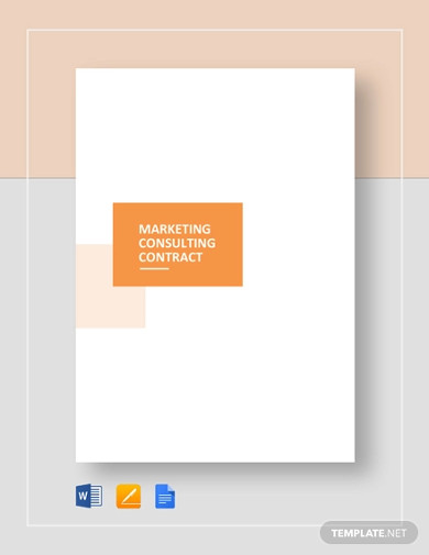 marketing consulting contract template