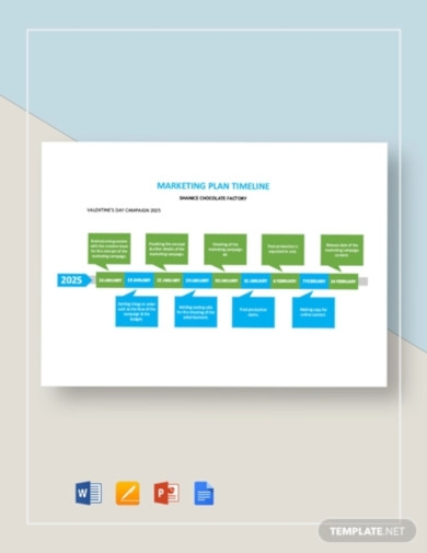 marketing plan timeline template