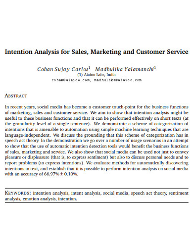marketing sales analysis