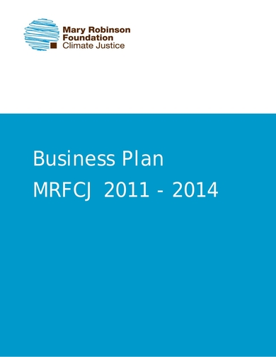 mary robinson foundation business plan for climate justice