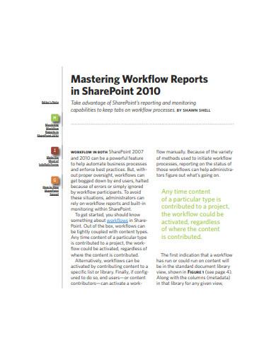 mastering workflow report