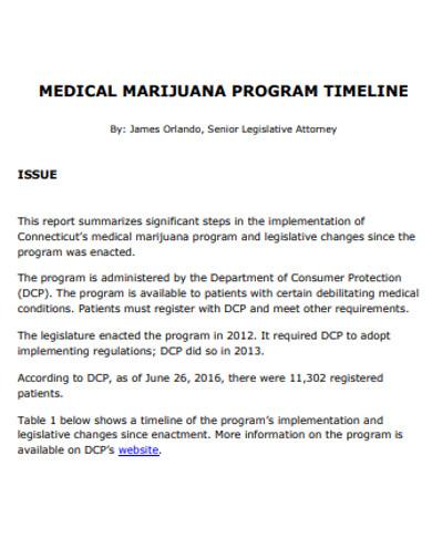 medical timeline format