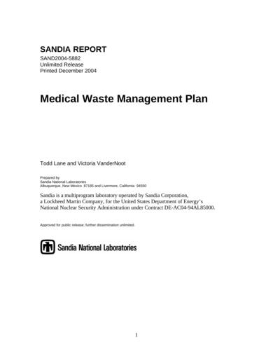 medical waste management plan