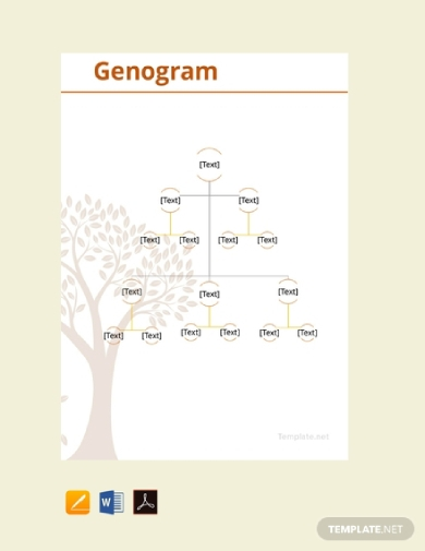 minimalistic genogram sample