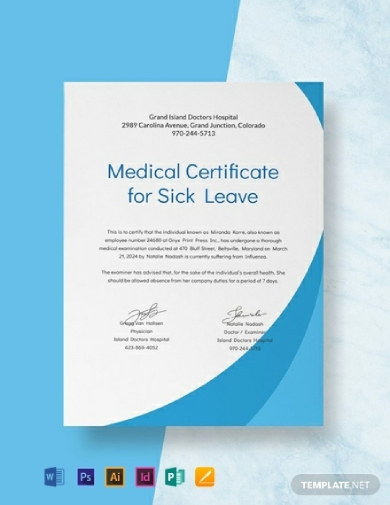 modern medical certificate for sick leave