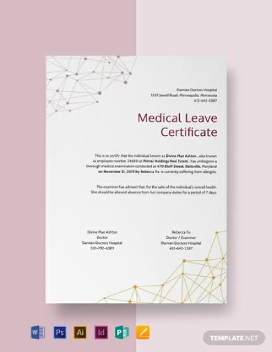 modern medical leave certificate