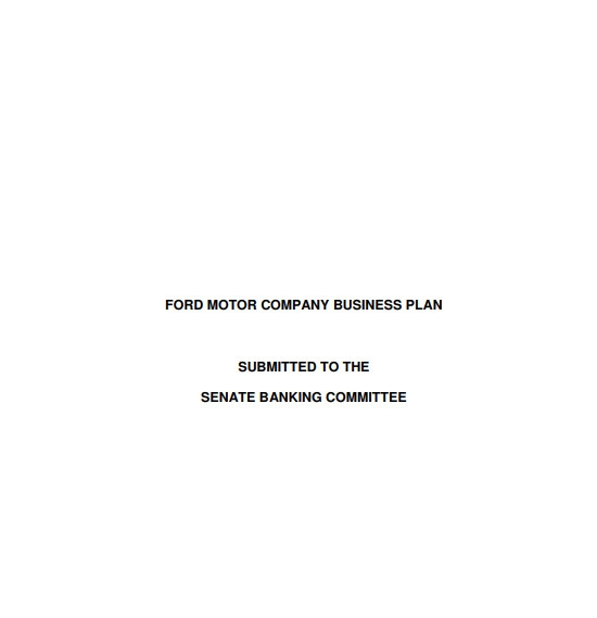 motor company business plan