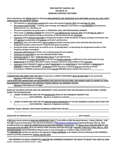FREE 10+ Lawn Care Contract Examples and Templates [Download