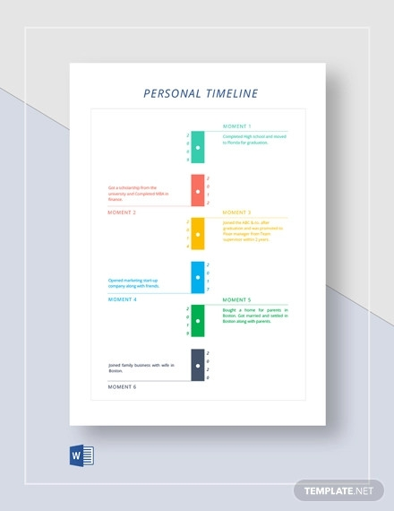 my personal timeline template