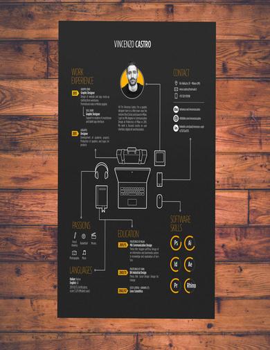 neat infographic resume