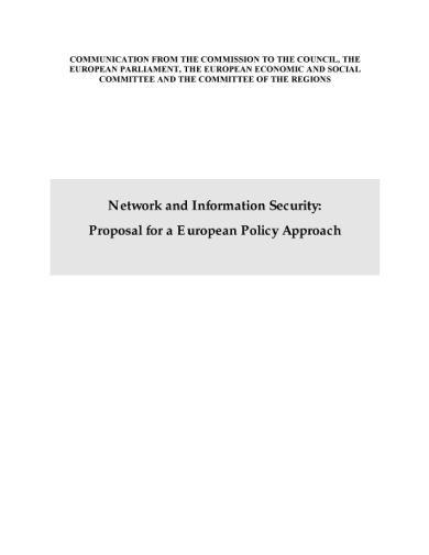 network and information security proposal