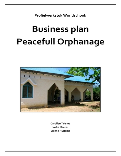 nonprofit business plan for orphanages