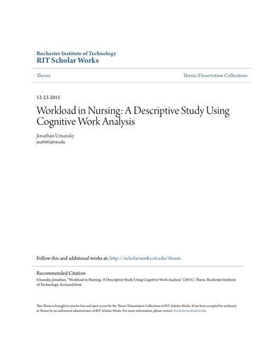 nurses workload analysis