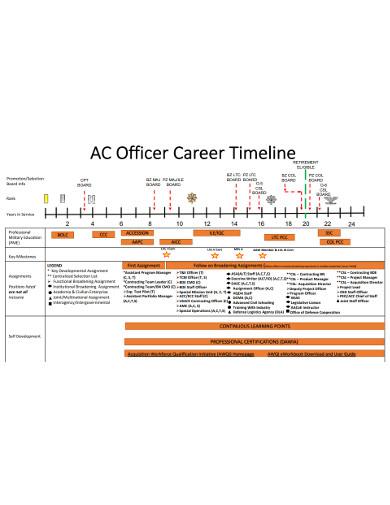 officer career timeline