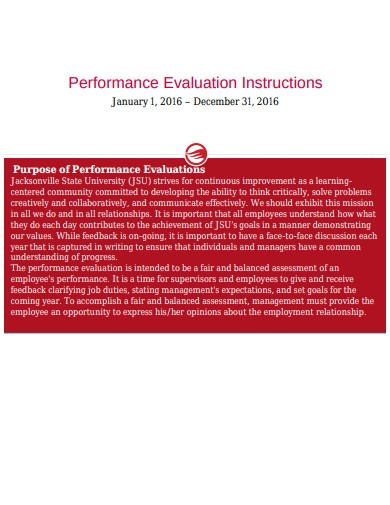 performance evaluation instructions in pdf