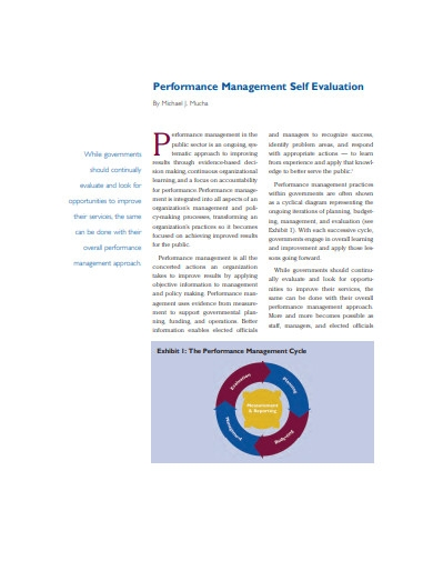 performance management self evaluation