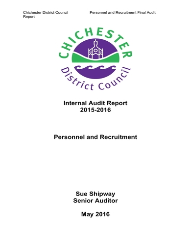 personnel and recruitment audit report