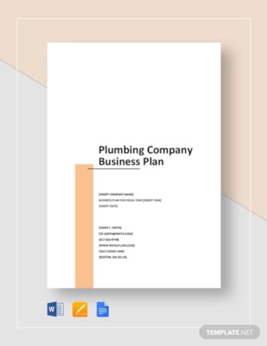 plumbing company business plan