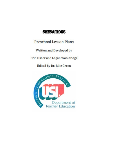 preschool lesson plan format