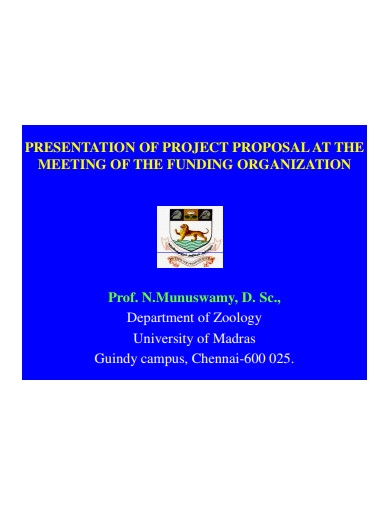 presentation of project proposal
