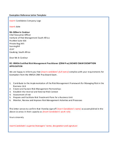 printable company reference letter