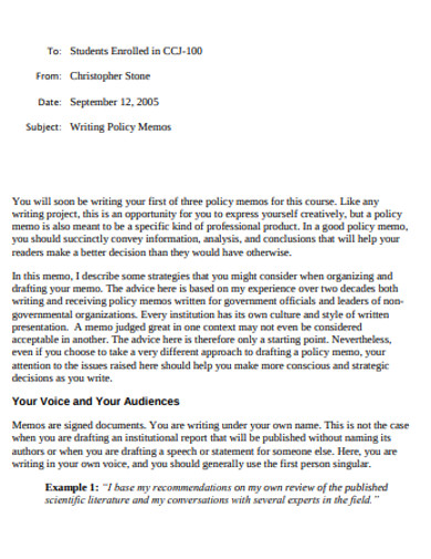 printable memo writing
