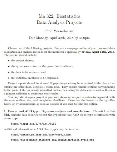 printable project analysis