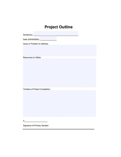 printable project outline example