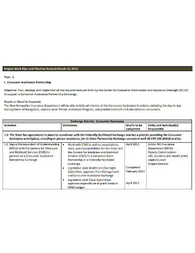 printable project work plan