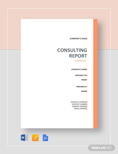 pro consulting report template