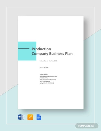 production company business plan